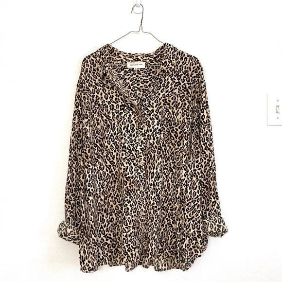 Jones New York Tops - Jones New York leopard animal print top size 3X
